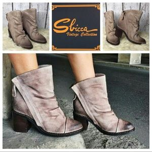 Sbicca Millie suede booties
